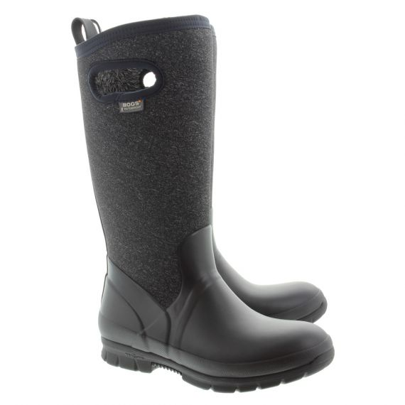 BOGS Ladies Crandall Tall Boots In Black
