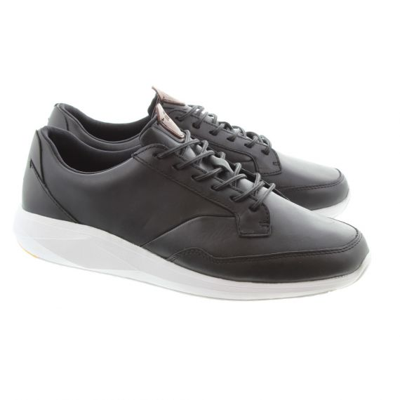 BOXFRESH Mens Rily Leather Trainers In Black