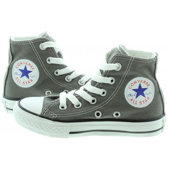 CONVERSE Canvas All Star Hi Kids Boots in Grey
