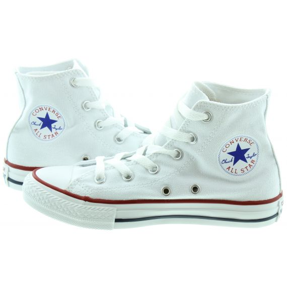 CONVERSE Canvas All Star Hi Kids Boots in White