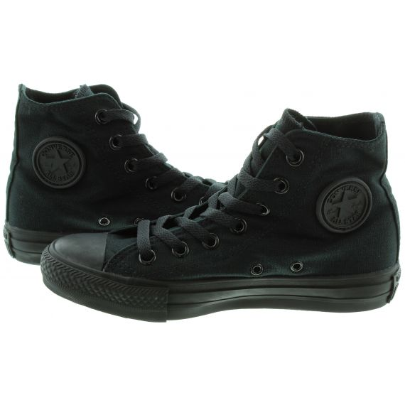 CONVERSE Chuck Taylor All Star Hi Boots in All Black