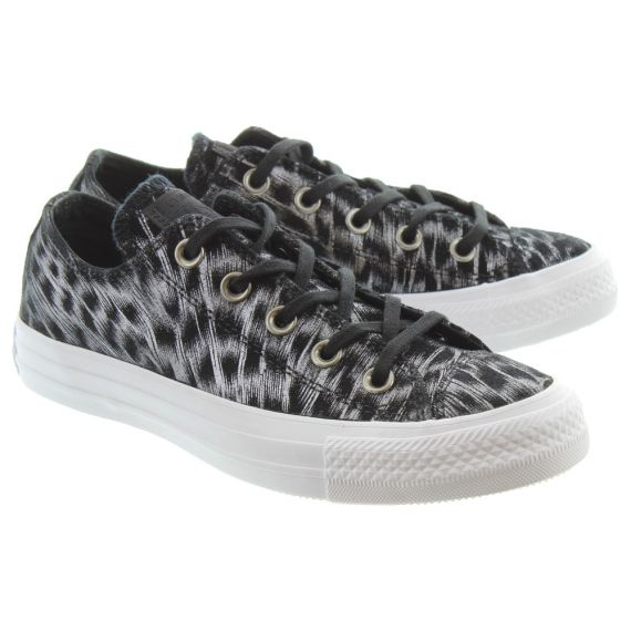 CONVERSE Ladies All Star Sparkle Shoes In Black