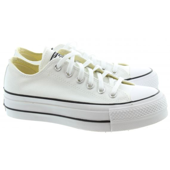 CONVERSE Ladies Allstar Lift Ox Shoes In White