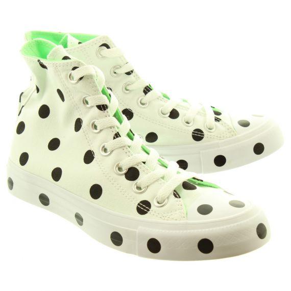 CONVERSE Ladies Allstar Polka Hi Boots In White