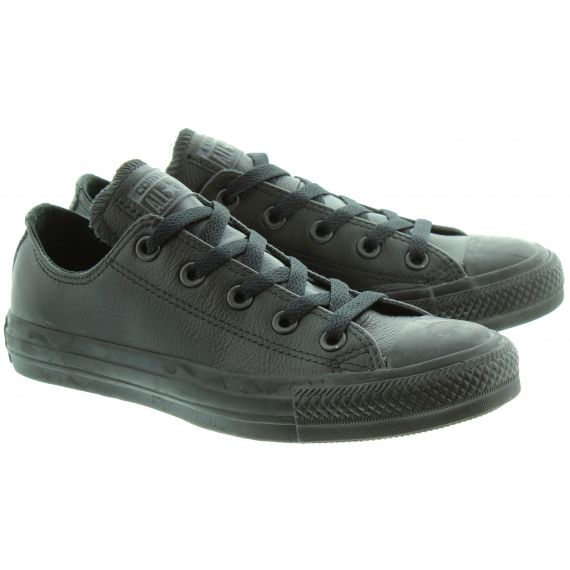 CONVERSE Leather Allstar Ox Shoes in Black