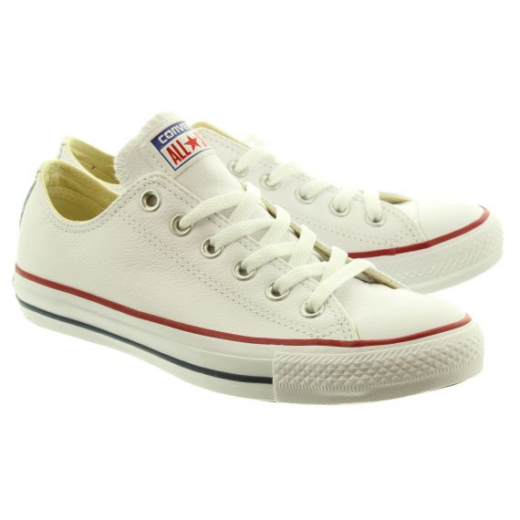 CONVERSE Leather Allstar Ox Shoes in White