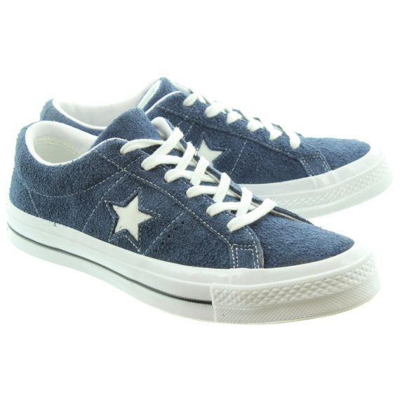 CONVERSE Mens One Star Lace Shoes In Navy