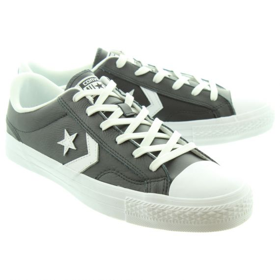 CONVERSE Mens Star Player Leather Shoes In Black