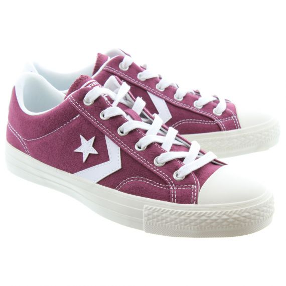 CONVERSE Mens Star Player Ox Lace Shoes In Burgundy