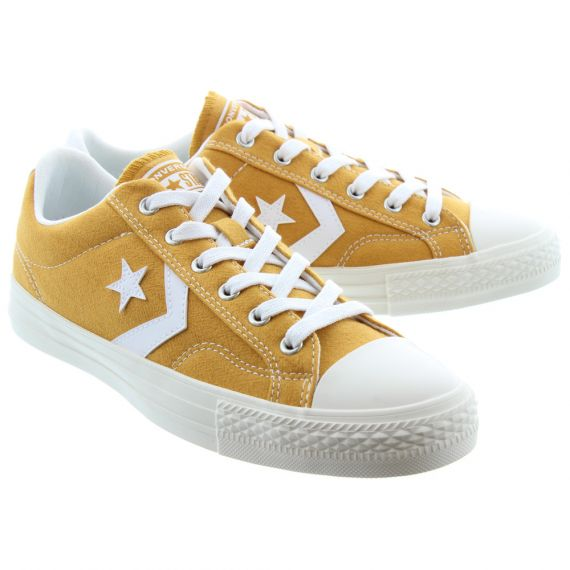 CONVERSE Mens Star Player Ox Lace Shoes In Mustard