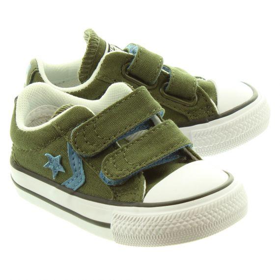 CONVERSE Starplayer 2 Velcro Shoes In Khaki