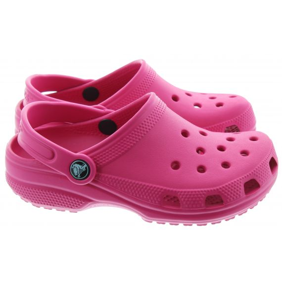 CROCS Kid Classic Clogs In Fuchsia