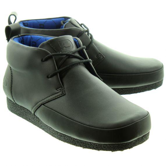 DEAKINS Kids Jagger Junior Plain Lace Boots In Black