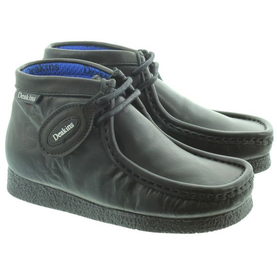 DEAKINS Kids Leather Archive Lace Boots in Black