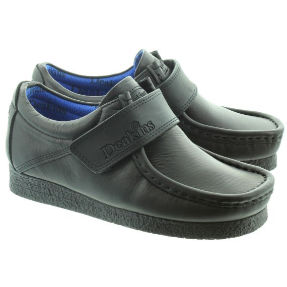 DEAKINS Kids Skive Velcro Strap Shoes in Black