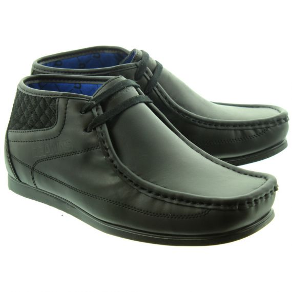 DEAKINS Mens Beckley Apron Shoes In Black