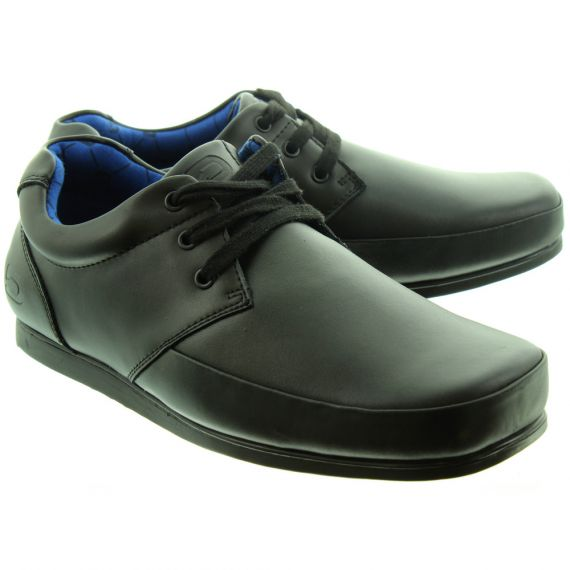 DEAKINS Mens Johnston Plain Lace Shoes In Black