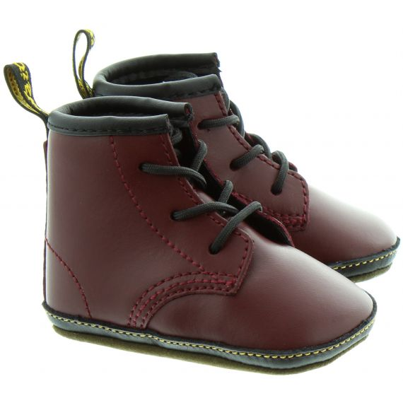 DR MARTENS 1460 Crib Lace Boots in Cherry