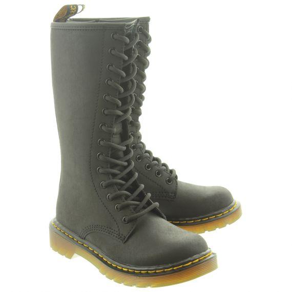 DR MARTENS Kids 1914 14 Eyelet Knee Boots In Black