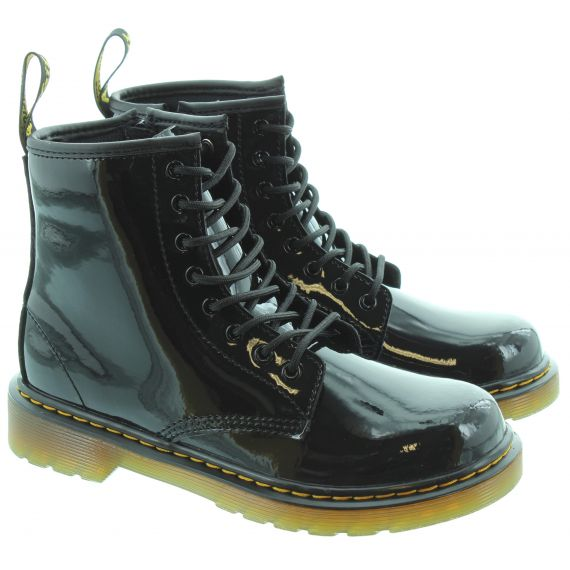 DR MARTENS Kids 1460 Boots in Black Patent