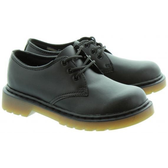 DR MARTENS Kids Everley 1461 Y Lace Up Shoes in Black
