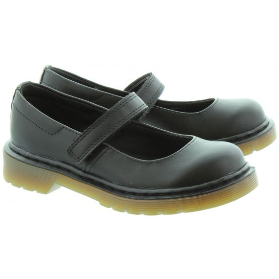DR MARTENS Kids Maccy Mary Jane Bar Shoes in Black
