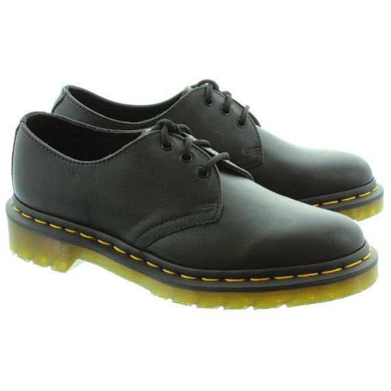 DR MARTENS Ladies 1461 Virginia Lace Shoes In Black