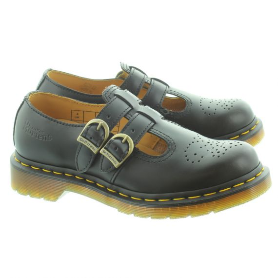DR MARTENS Ladies 8065 Mary Jane Twin Bar Shoes in Black