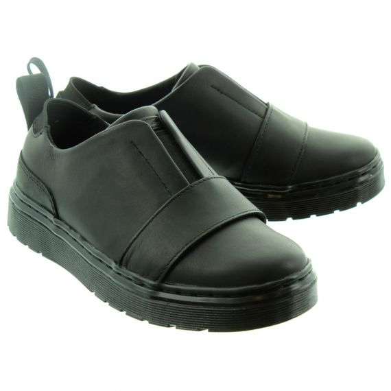 DR MARTENS Ladies Lylah Slip On Shoes In Black
