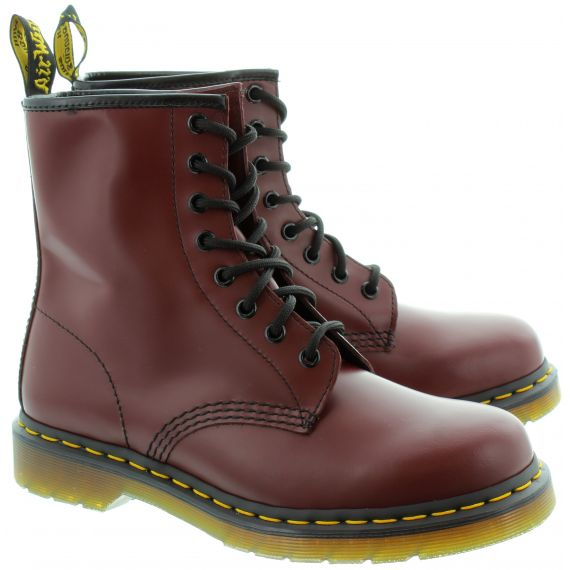 DR MARTENS Leather 1460 8 Eyelet Boots in Cherry