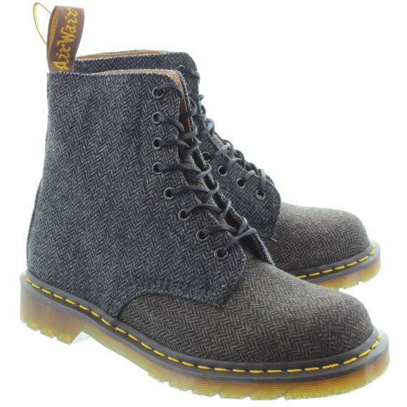 DR MARTENS Mens 1460 Herringbone Boots In Grey