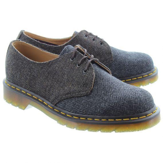 DR MARTENS Mens 1461 Herringbone Shoes In Grey