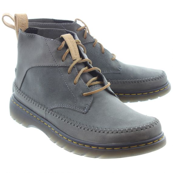 DR MARTENS Mens Flloyd Lace Ankle Boots In Grey