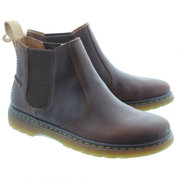 DR MARTENS Mens New Lyme Chelsea Boots In Brown