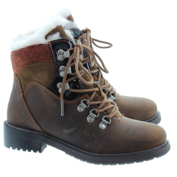 EMU Ladies Primrose Lace Boots In Oak