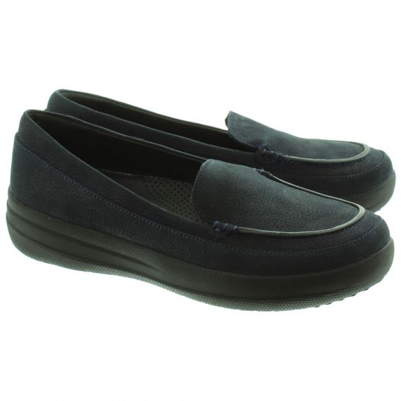 FITFLOP F-Sporty™ Nubuck Loafers In Navy