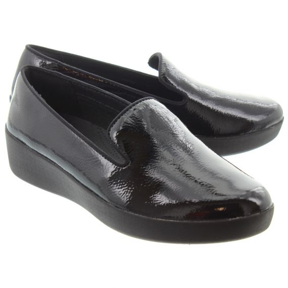 FITFLOP Ladies Audrey Loafer In Black Patent
