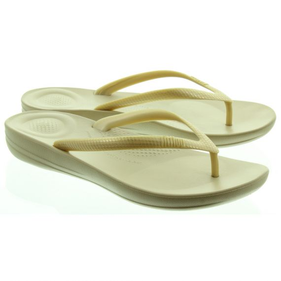FITFLOP Ladies Iqushion Flip Flops In Gold