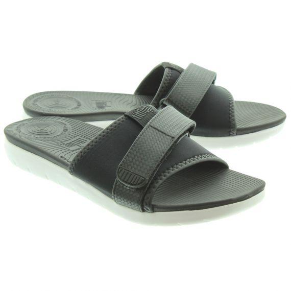 FITFLOP Ladies Neoflex Slide Sandals In Black