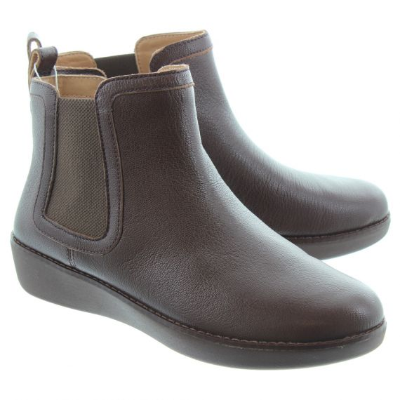 FITFLOP Womens Chai Chelsea Boots In Espresso Brown