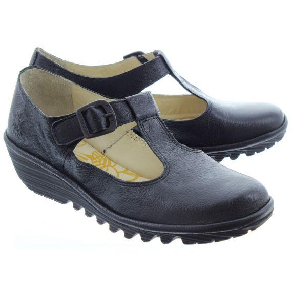 FLY Kids Yady T Bar Shoes In Black