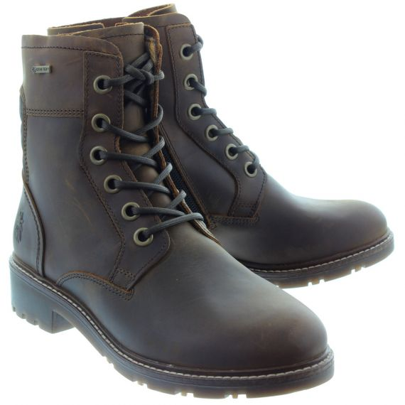 FLY Ladies Silo Waterproof Ankle Boots In Brown