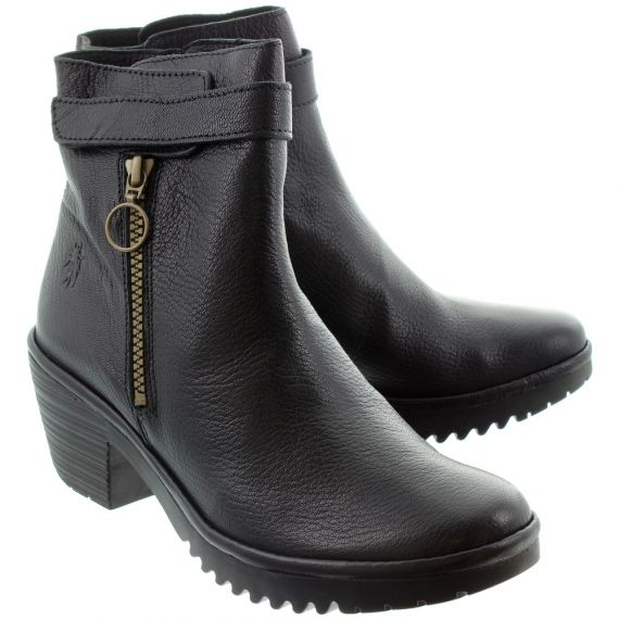 FLY Ladies Went Zip Ankle Boots In Black