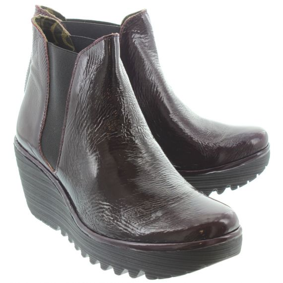 FLY Ladies Yoss Chelsea Ankle Boots In Purple