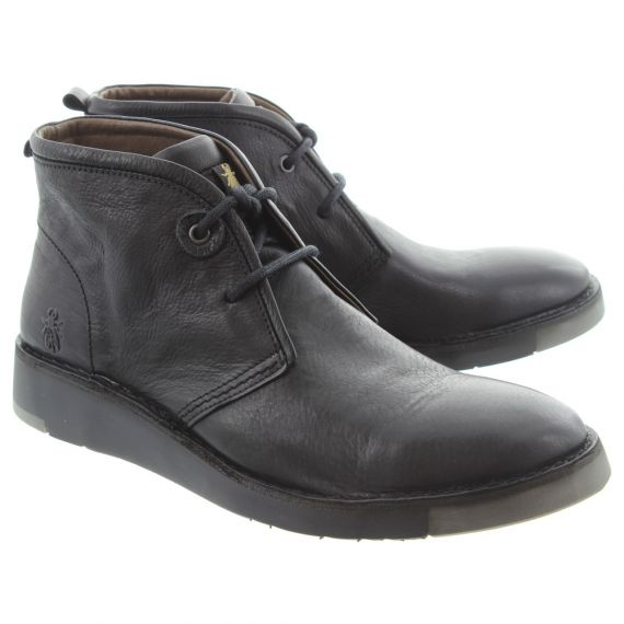 FLY Mens Sion Lace Boots In Black