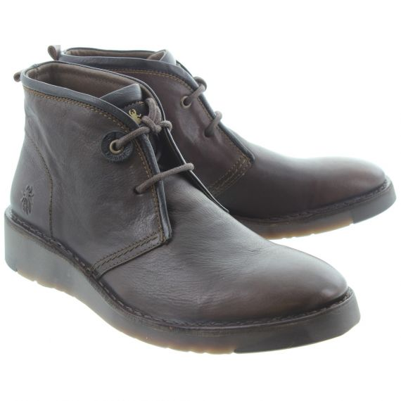 FLY Mens Sion Lace Boots In Brown