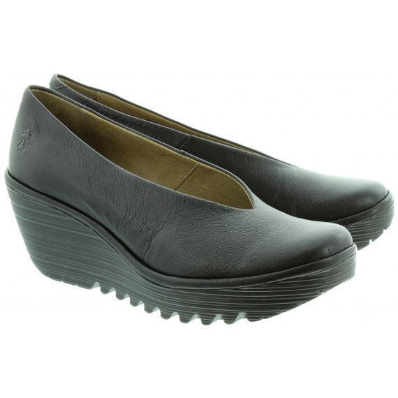 FLY Yaz Wedge Shoes in Black