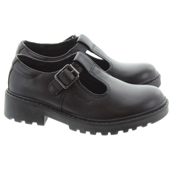 GEOX Casey T Bar Shoes In Black