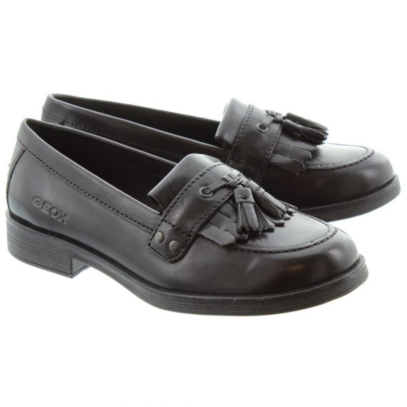 GEOX Kids Agata Loafers in Black