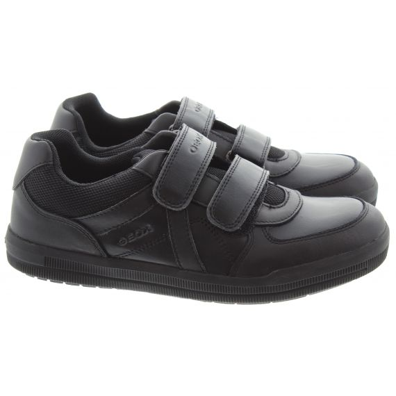 GEOX Kids Arzach Velcro Shoes In Black